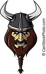 viking, anføreren, konstruktion, illustration