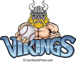 Viking Baseball Sports Mascot