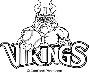 Viking Baseball Sports Mascot