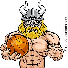 Viking Basketball Sports Mascot