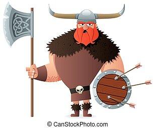 viking, blanc