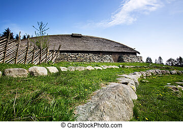 Viking Building - A viking longhouse on the coast of Norway