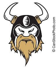 viking, cabeza