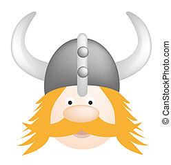 Viking cartoon - Cartoon illustration of a fun viking in...
