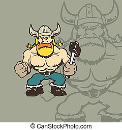 viking cartoon character