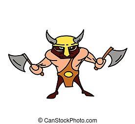 Viking cartoon hand drawn image