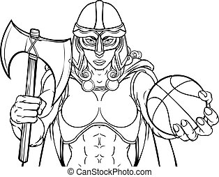 Viking Celtic Knight Basketball Warrior Woman