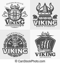 Viking Design Emblem Set