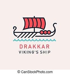 viking, drakkar, bateau