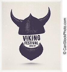 Viking Festival - Viking helmet and beard, Jorvik viking...