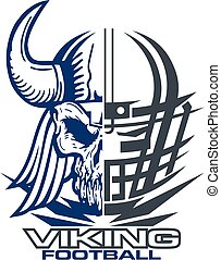 viking football team design with mascot and facemask for ...