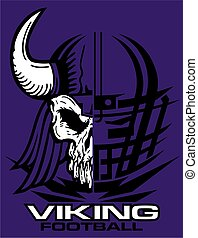 viking football team design with mascot and facemask for...