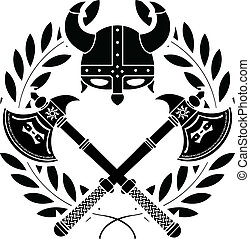 viking, glory., stencil., 首先, varian
