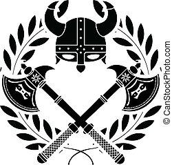 viking, glory., stencil., första, varian