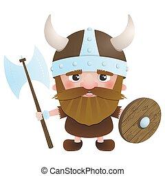 viking, guerrero 2, vector