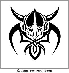 viking, guerrero, emblema