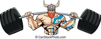Viking Gym Mascot