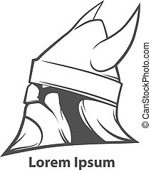viking head logo - simple illustration for logo, viking head...