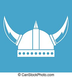 viking helm, witte , pictogram