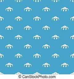 Viking helmet classic pattern vector seamless blue