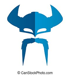 Viking Helmet Simple Silhouette