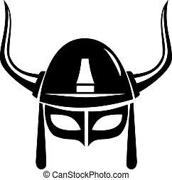 viking helmet vector isolated on white background
