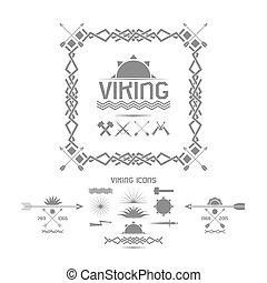Viking icons, design elements