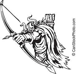 viking, illustration., -, vecteur, vinyl-ready., nordique