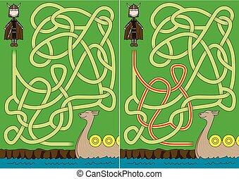 viking, labyrinthe