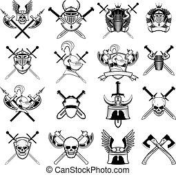 Viking logo set