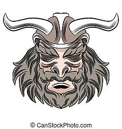 Viking Male Warrior Cartoon