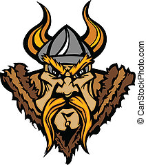 Viking Mascot Vector Cartoon with H - Graphic Mascot Vector ...