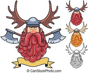 viking, portrait, 2