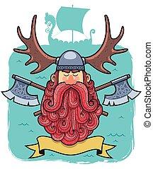viking, portrait