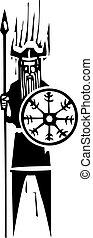 viking, roue, symbole