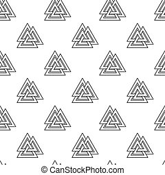 Viking seamless pattern - Vector illustration seamless...