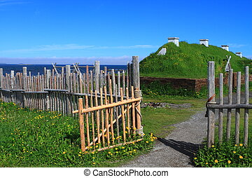 Viking settlement - Ancient homes of Viking settlers in L'...