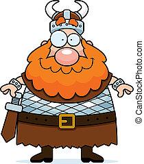 viking, sorridente