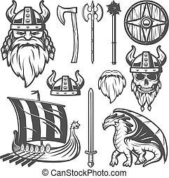 viking, szüret, állhatatos, ikon