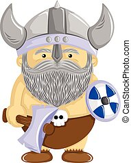 viking the conqueror - funny characters are carrying a...