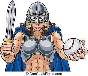 Viking Trojan Celtic Knight Baseball Warrior Woman