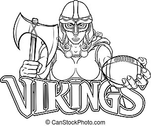 Viking Trojan Celtic Knight Football Warrior Woman
