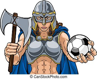 Viking Trojan Celtic Knight Soccer Warrior Woman