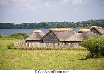 Reconstruction of a viking village