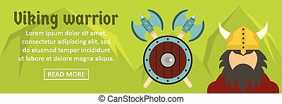 Viking warrior banner horizontal concept