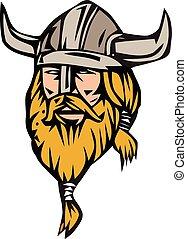 Viking Warrior Head Retro