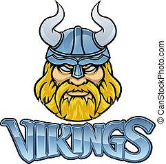 Viking Warrior Mascot Sign Graphic