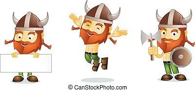 Viking with board mascot