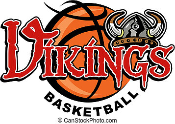 vikings basketball - Vikings basketball design with helmet...