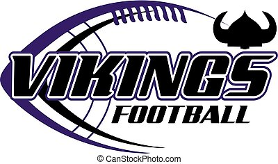 vikings football team design with ball for school, college...